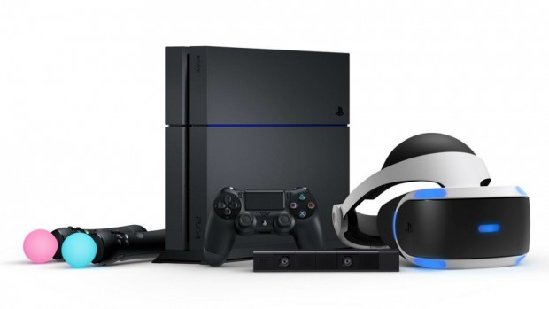 Sony PlayStation 4 and PlayStation VR headset.