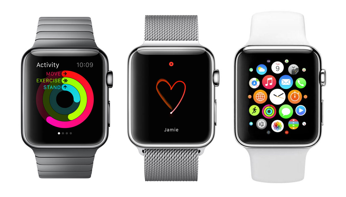 Apple Watch variants.