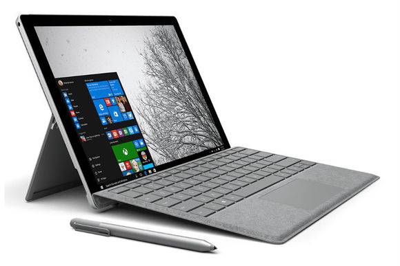 Surface Pro 4 docked on the SIgnature Type Cover.