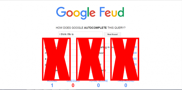 Google Feud Strike