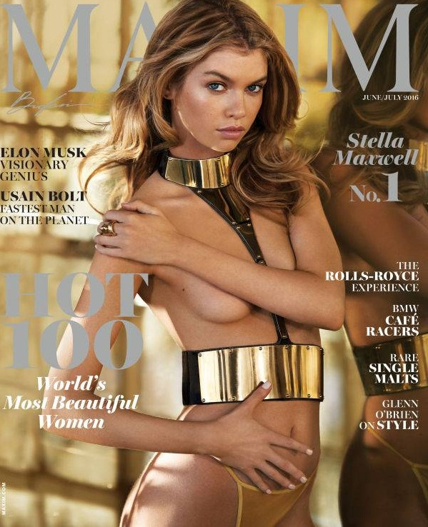 Irish Supermodel Stella Maxwell tops Maxim's Hot 100 list with Superlative photoshoot