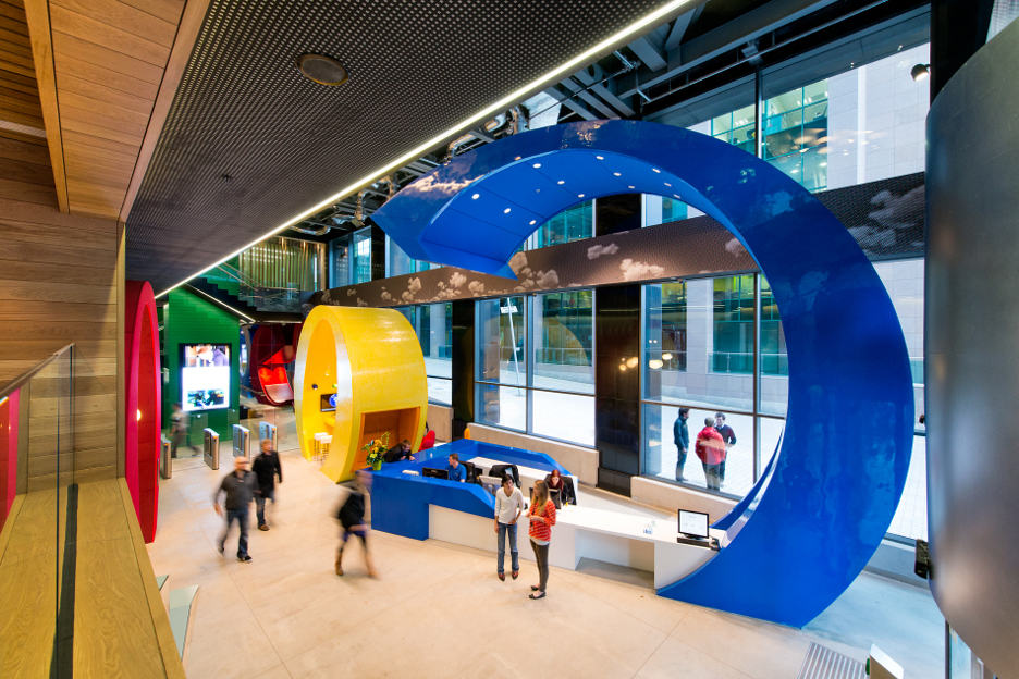 Google's headquarters in Dublin have one of the most creative spaces among the giant company's domain around the globe. Image Credit: Home Designing