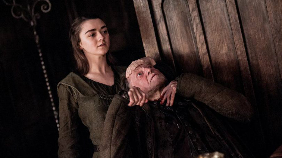 "Maisie Williams Promises ""Sh*t Gets Real"" on Game of Thrones Season 7. Image Source: EW"