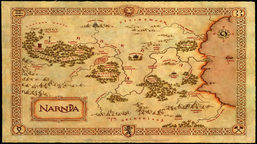 Chronicles of Narnia world map