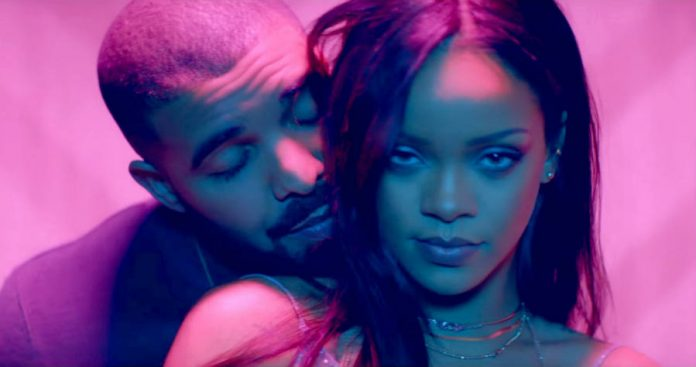 Drake celebrates Rihanna's success with a giant billboard in LA