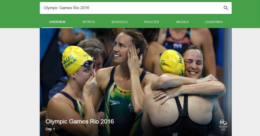Google Rio 2016 search bar