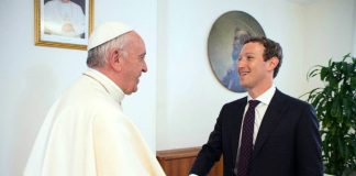 Mark Zuckerberg visits Rome and meets Pope Francis