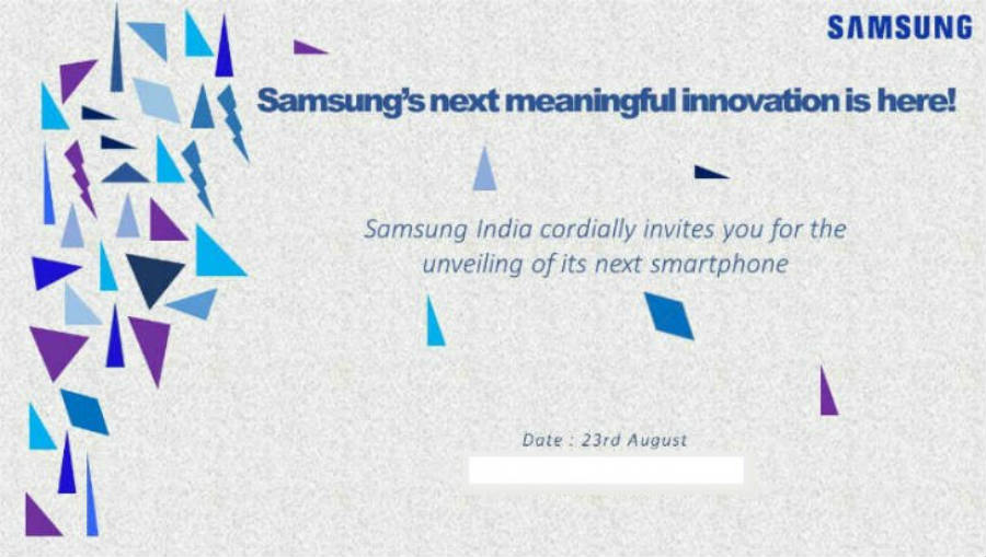 Samsung will unveil a new smartphone in August