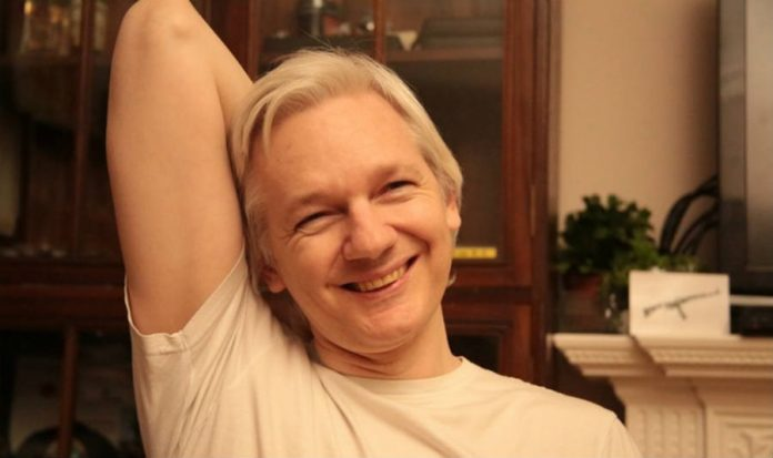Wikileak's Julian Assange jokes about hacking Donald Trump
