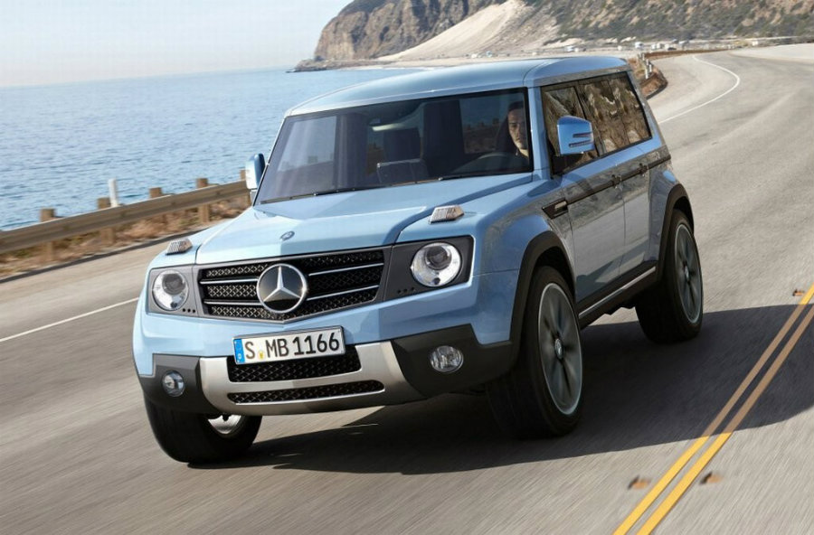 Mercedes benz new g class suv prototype spotted in germany for Mercedes benz box suv
