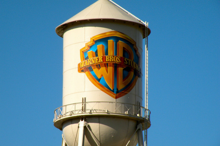 A shot of the famous Warner Bros. Pictures' water tower. Image Source: Flickr