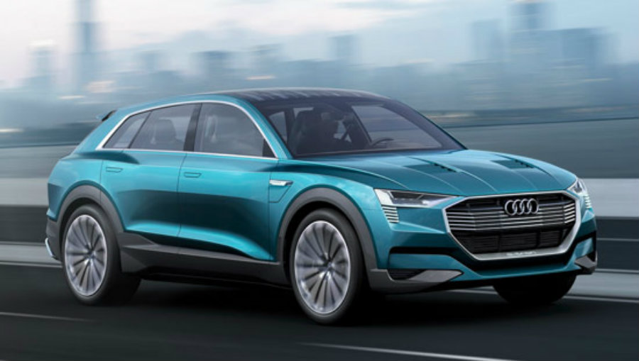 To charge the luxury GLC SUV, owners could use both hydrogen and a wall socket.