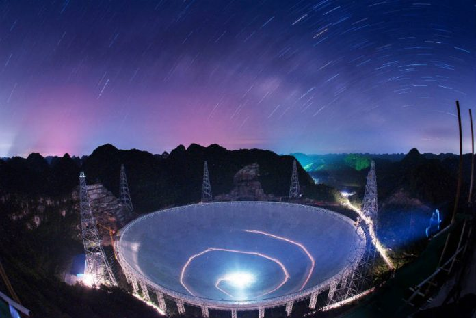 China completes the 500-meter Aperture Spherical Telescope
