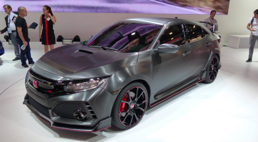Honda Civic Type R Prototype Pictures.