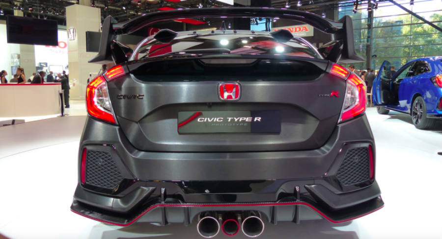 Honda Civic Type R Prototype rear picture.