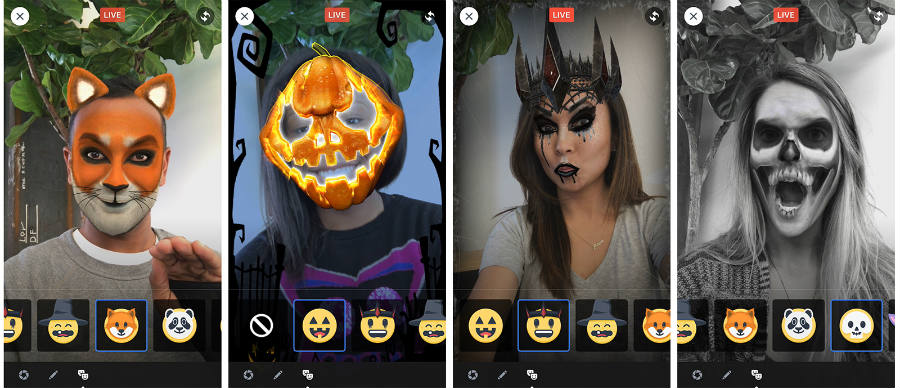 Facebook-Facebook Live-Halloween-Masks