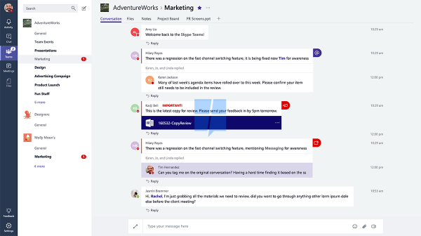 Microsoft Teams interface.