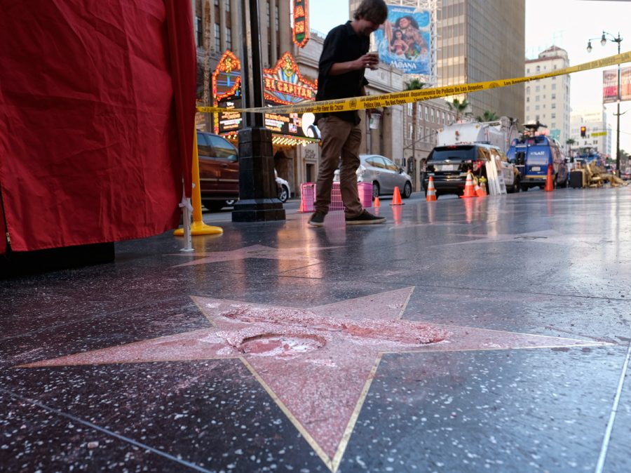 trump-star-vandalised