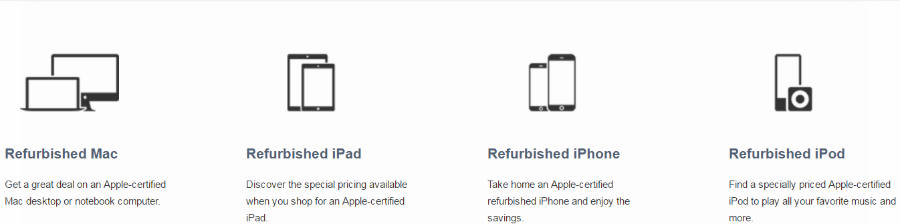 Get refurbished Macs, iPads, iPhones and iPods at the Apple Store.