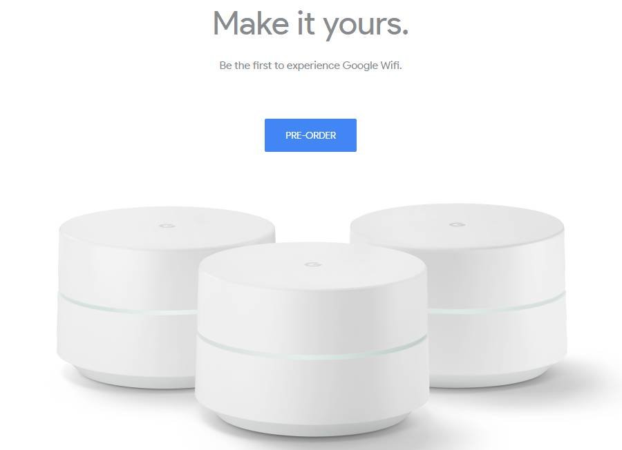Pre-order Google WiFi on the company's official site. Image: Google.