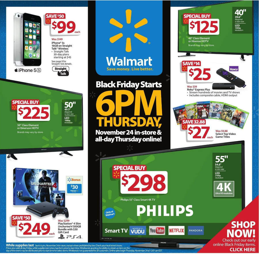 Walmart Black Friday ad page 1.