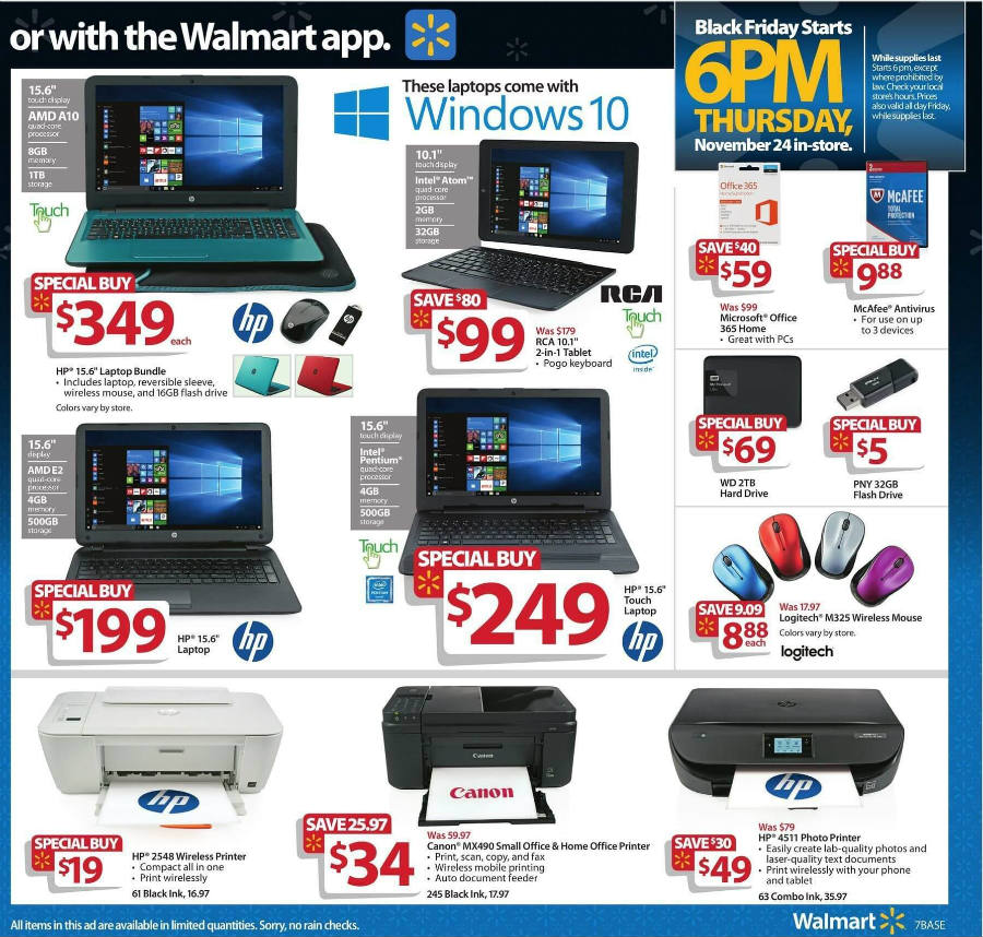 Nov 05,  · Walmart Black Friday Deals & Sales. Walmart Black Friday will be here before you know it. Black Friday brought us a number of great deals for Electronics, Home & Garden and more. savers. Walmart's Black Friday sale will begin online at 12 a.m. on Thanksgiving and in stores at 6 p.m. on Thanksgiving/5().