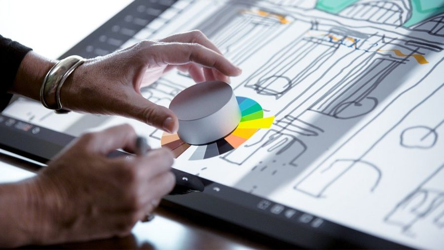 Microsoft recently confirme the Surface Dial will be available for both the Surface Pro and the All-in-One Surface PC. Image Source: The Verge