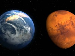 Earth and Mars compared
