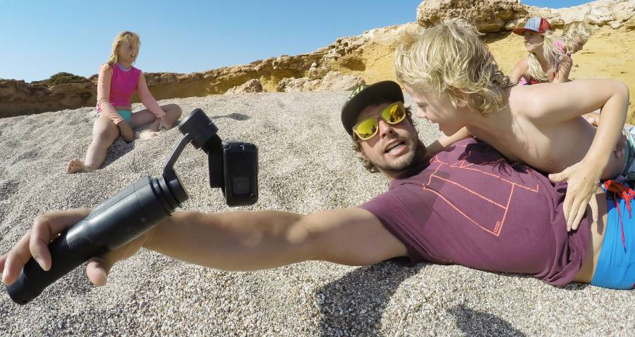 GoPro's Karma Grip is basically a stable selfie stick.