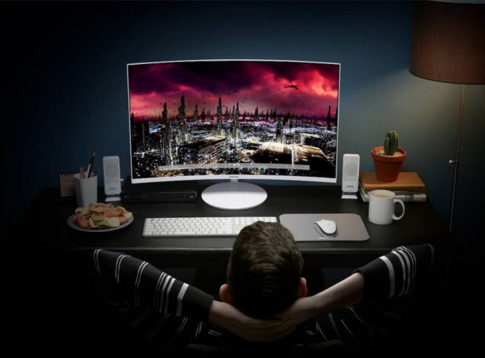 Samsung Quantum Dot Curved Monitors.
