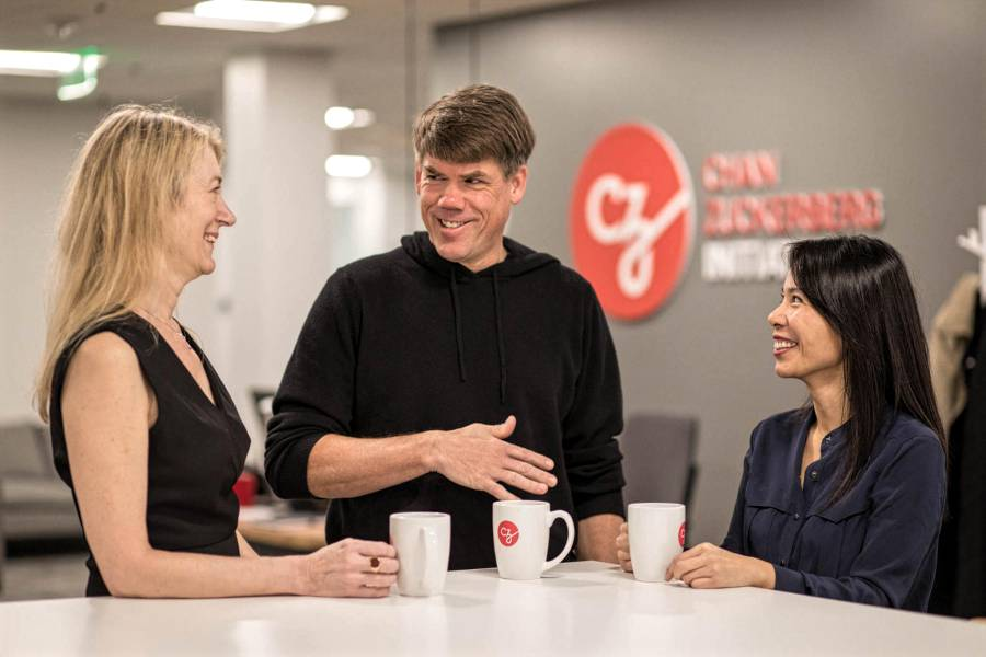 Cori Bargmann, President of Science, and Brian Pinkerton, Chief Technology Officer of the Chan Zuckerberg Initiative.