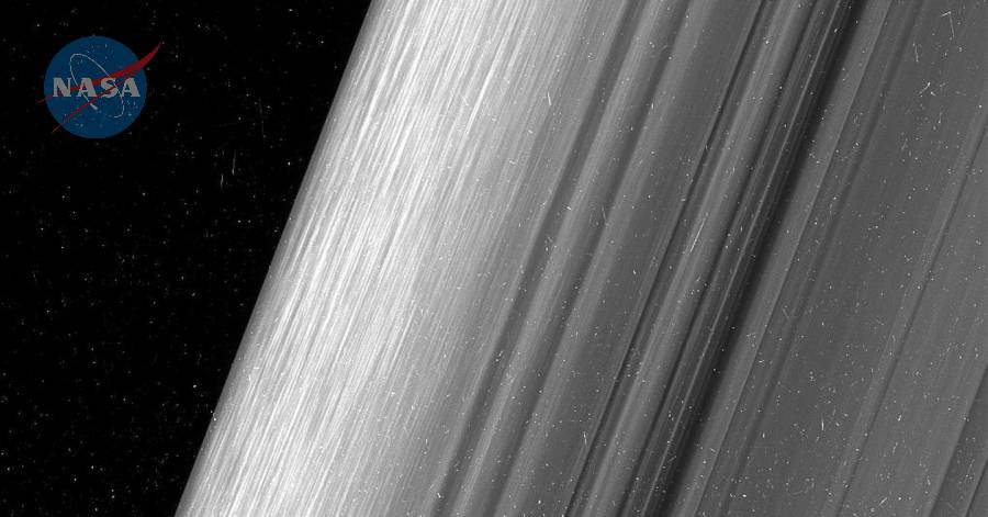 Saturn Rings border - Cassini probe.