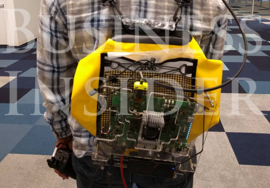 Magic Leap prototype backpack and controller