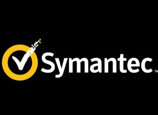 Symantec logo with black background