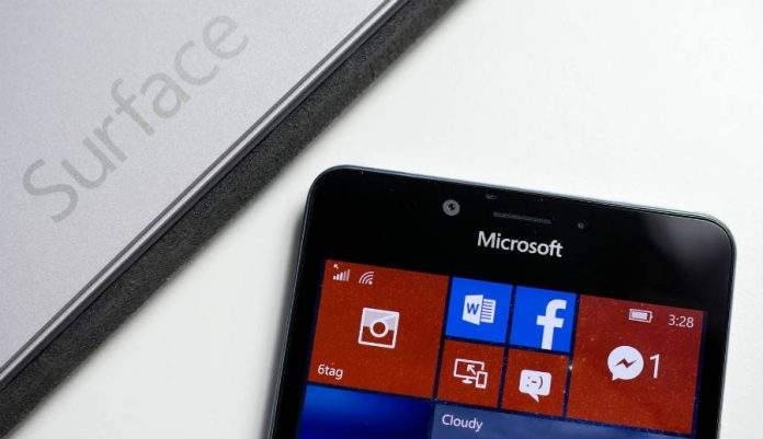 Surface Phone screen image