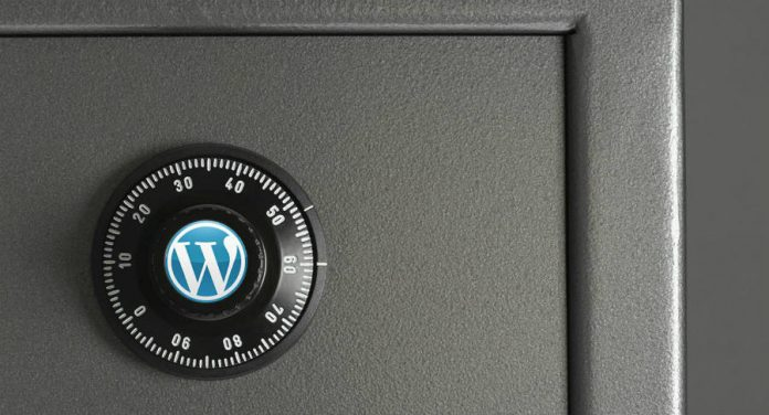 A safebox with the Wordpress logo