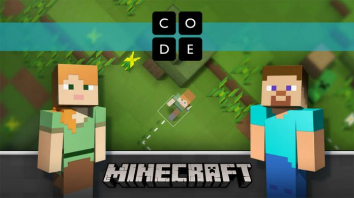 Minecraft code builder wallpaper