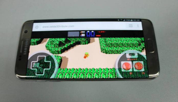 Playing The legend of Zelda on a smartphone