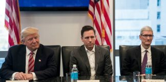 Donald Trump, Peter Thiel, and Tim Cook, American Technology Council