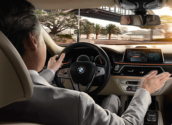 Interior 2016 BMW 7 Series Pr Gesture Control Driving