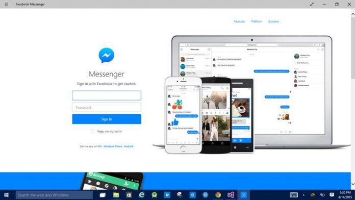 Facebook Messenger app for Windows 10 now available in