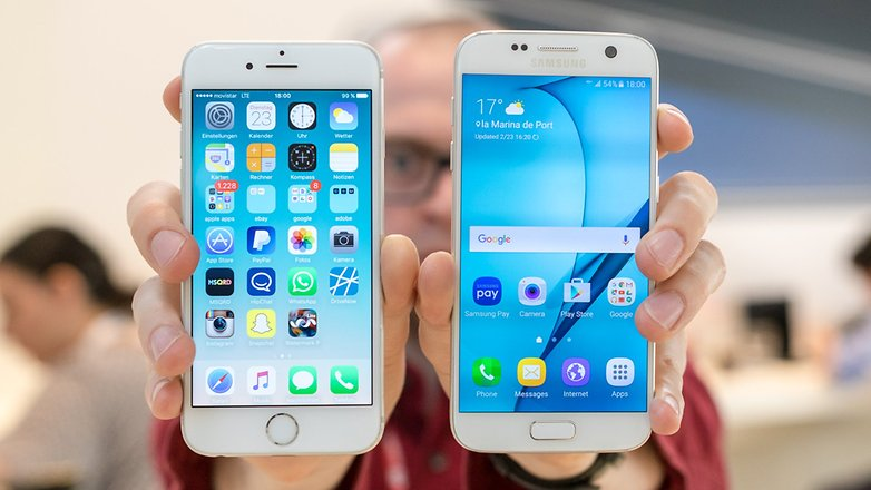 Left: Apple iPhone 6S Right: Samsung Galaxy S7 Image credit: Android Pit