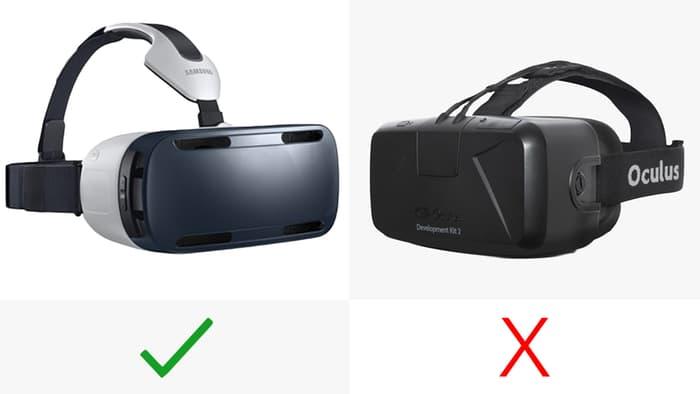 Left: Samsung Gear VR Right: Oculus Rift Image credit: GizMag