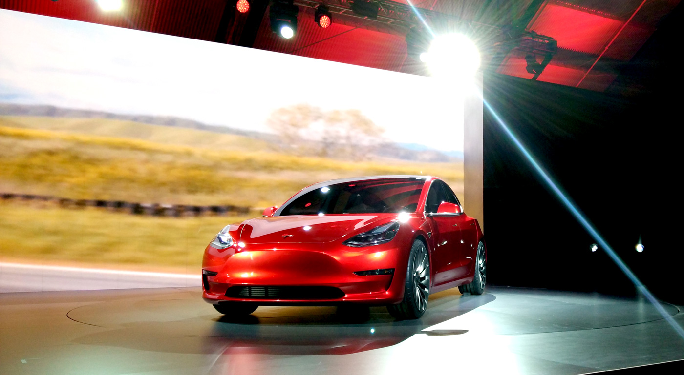 Tesla's latest entry to the auto market, the Model 3.