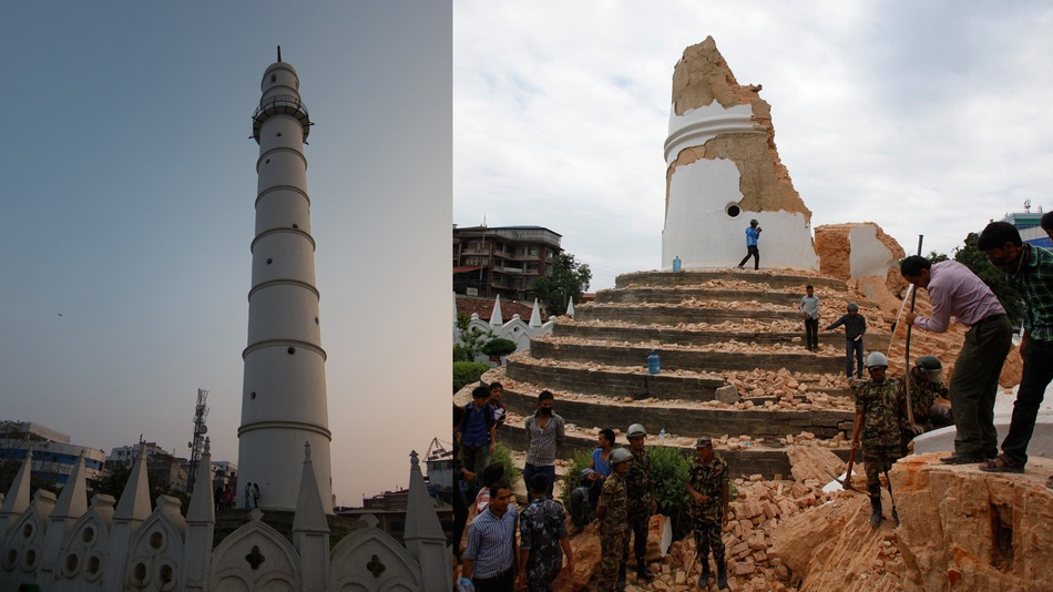 Nepal earthquake: Before and after.