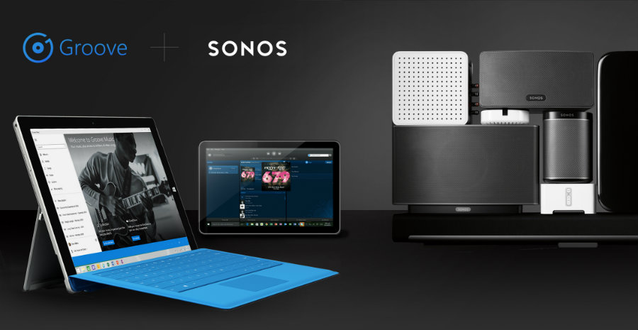 Groove is also available for Sonos. Image Source: Windows