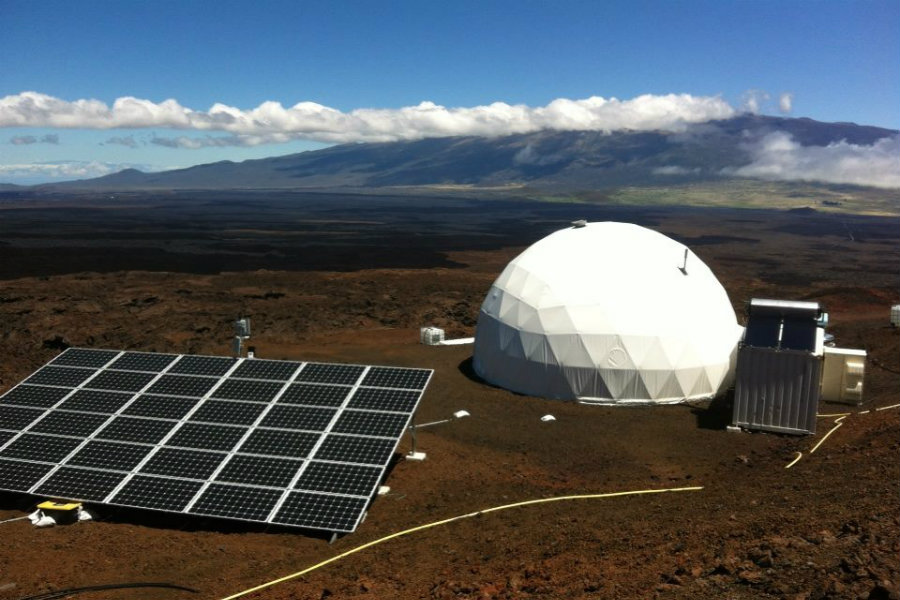 Arranged by NASA, University of Hawaii, and Cornell University, the first HI-SEAS mission lasted for four months during 2013. Image Source: Space