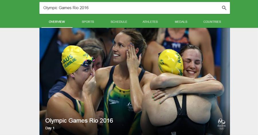 Google Rio 2016 search bar