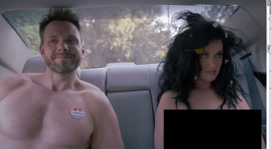 A shot from Funny or Die's sketch featuring famed singer Katy Perry and TV host and actor Joel McHale. Image Source: YouTube