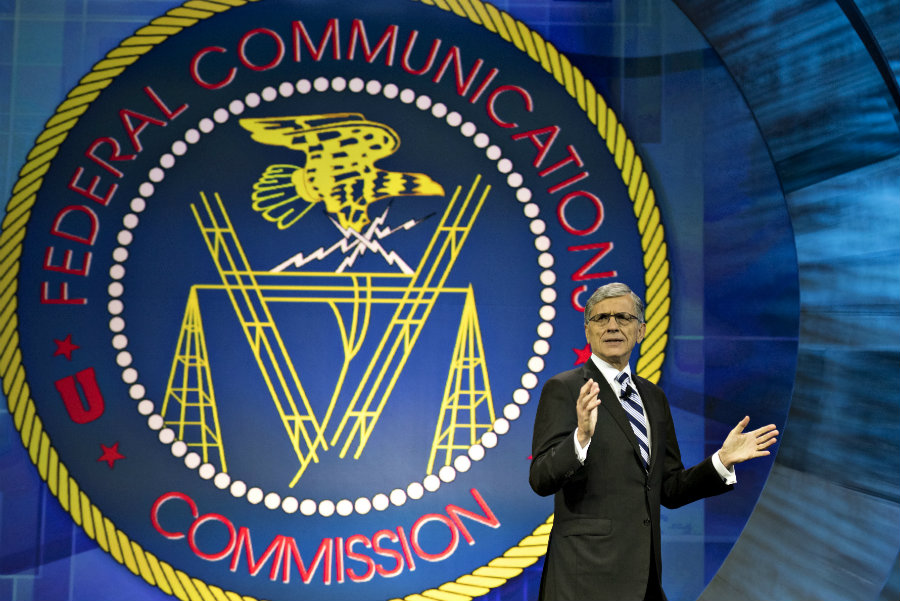 Tom Wheeler addresing the audience at the FCC's main conference last year. Image source: Kosu
